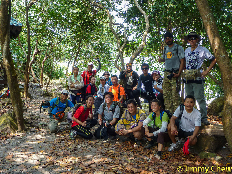 Another group photo nearby the Pulau Intan hut. Missing were JC, Chiu Wah and Danny.