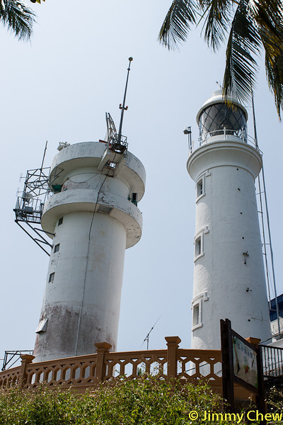 View of lighthouse and Measat tower from Pulau Intan route.