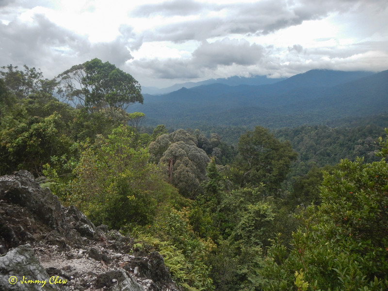 End-peak of Batu Kumbang. View of West of Bukit Chenuang.