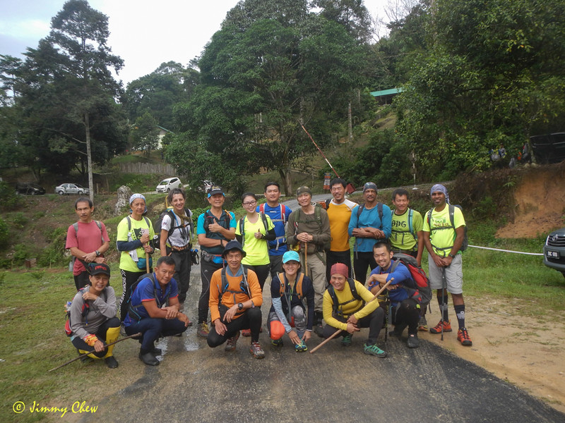 Group photo at ATV Adventure car park before everyone gets messy from the 9 km one-way trail to Batu Kumbang.