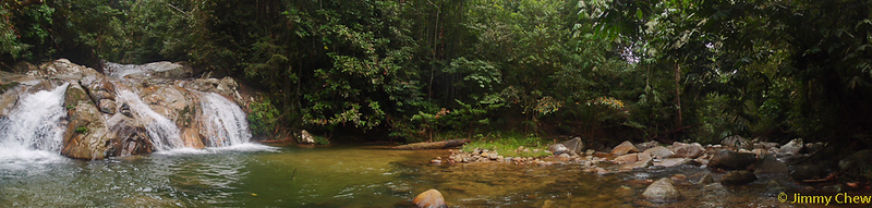 Panoramic shot of Lata Medang.
