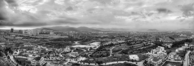 Panoramic view of Desa ParkCity from peak of Secret Hill.