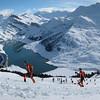J2 : vu sur le Roselend et le Mont Blanc, on ne s'en lasse pas même en course.<br /> Photo : Peggy GIACOMETTI