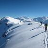 Sommet de la Grande Lanche avec vue sur le Mont-Blanc.