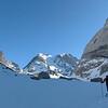 Lac des Vaches : Arno prêt à en découdre avec la Grande Casse avec les petits skis... va y avoir du sport !