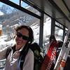 Boisson salvatrice au Tour dans le bus de retour à Argentière.