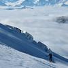 Les séracs et les Alpes Grées versant Valdotain