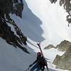 Remontée à la Brèche de l'Argentière, ambiance haute-montagne.