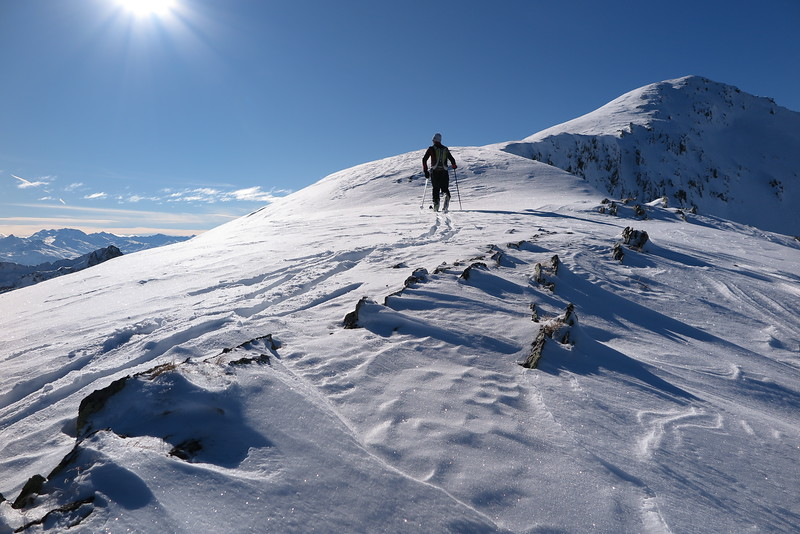 Secteur Col du Dard. Ski cailloux vivement recommandés !