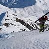 Remontée au couchant pour rebasculer en Maurienne. Surement la rando de l'année, >2000m de bon ski et rien à jeter.