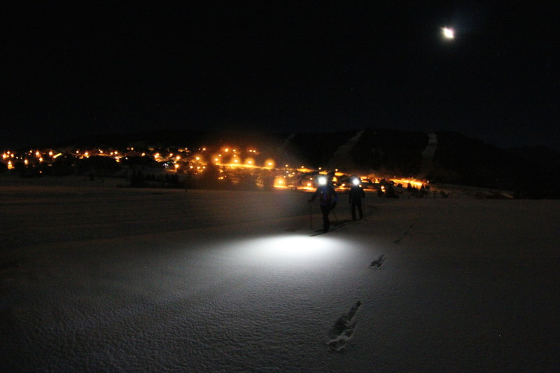 Première neige aux Saisies fin novembre