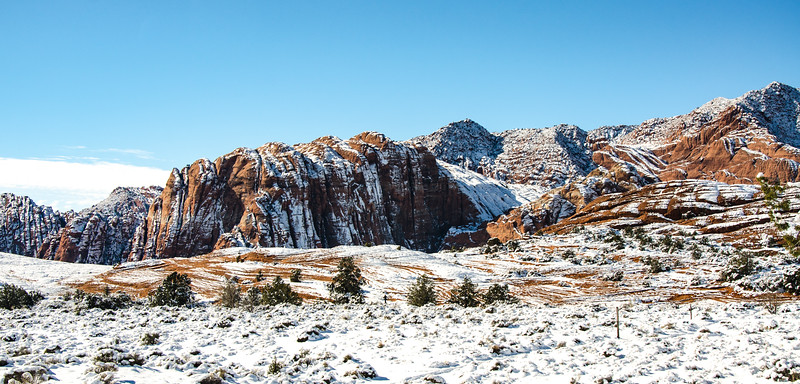 Snow Canyon with real snow