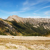 Hiking in the Canadian Rockies. Kindersley Pass.