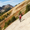 Hiking in the Canadian Rockies. Trail to Kindersley Pass.