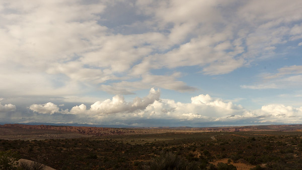 Looking out over Northern Arches NP.