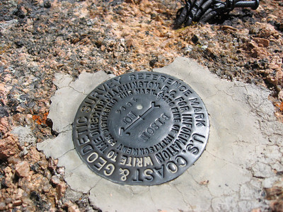 The official summit marker.