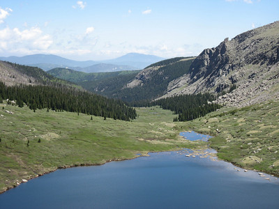 Looking back over the lower of the two lakes.