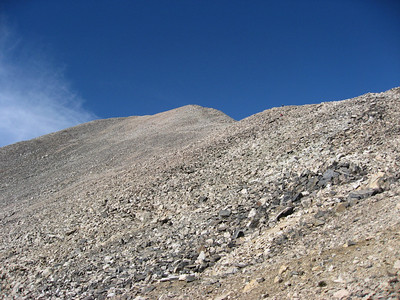 A shot from just below the saddle, showing the gradual ascent up Democrat.