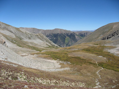 A shot out over Missouri Gulch as we begin our ascent up Missouri Mountain.