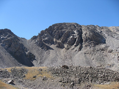 That's the summit of Missouri from Elkhead Pass. The ridge we saw from Belford and Oxford is on the left.