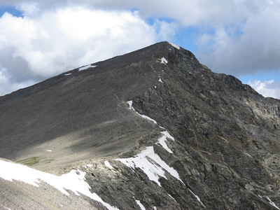 The route to Torreys from just below the summit of Grays.