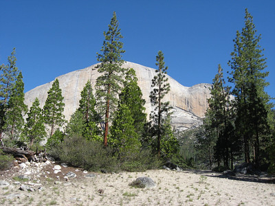 The sheer face of Half-dome.
