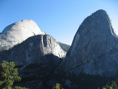 Half-dome is on the left (the taller one).