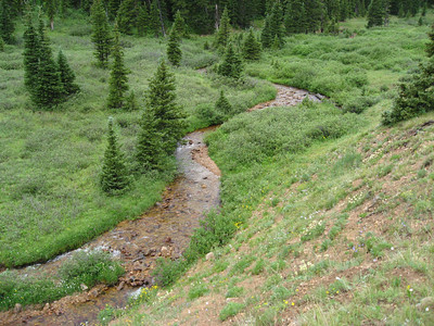 The stream coming down Herman Gulch.