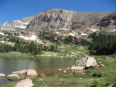 Chief's Head Mountain, which is directly behind Snowbird Lake and Lion Lake #2.