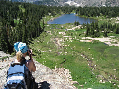 Overlooking the meadow and Lion Lake #1