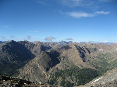 From the ridge leading up to the Mt. Massive summit (13,900ft)