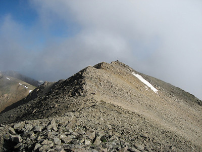 The summit is the third little hump in the distance.