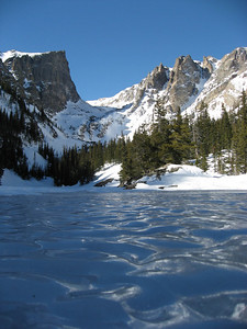 From Dream Lake we have a straight shot to Emerald Lake. I had way too much fun try to take pictures of the ice.