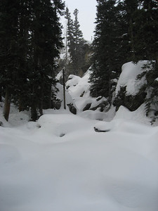 Ouzel Falls is snowed in at the moment.