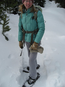 We switched to snowshoes after Calypso Cascades. We didn't really need them, but we both wanted to get some time on them since we had brough them along.