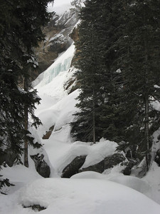 The falls were completely frozen.