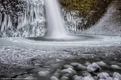 Frozen Horsetail Falls, Columbia River Gorge