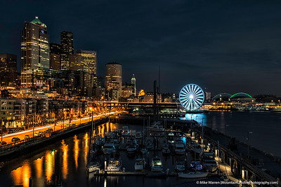 Nighttime on the Seattle Waterfront