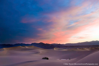 Desert sunset, Death Valley National Park, CA