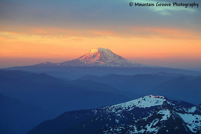 Mt. Adams at sunrise, from Little Tahoma, WA