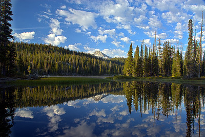 Perfect reflection, Horseshoe Lake, Eagle Cap Wilderness, OR