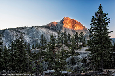 Final sunset on Half Dome, YNP