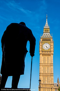 Winston Churchill and Big Ben, London