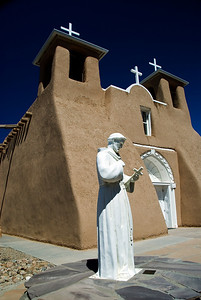 Church, outside Santa Fe, NM