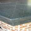 "Soapstone Seam, High Bar with Beveled Edge and 4"" Skirt"