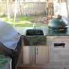 Victoria Regis Quartzite, Triple Pencil Edge, Farmers Face Sink, and Green Egg