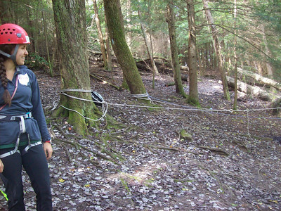 Rappelling in Hocking Hills