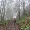 Heading up the Aldrich Butte Road. <FONT SIZE=1>© Chiyoko Meacham</FONT>