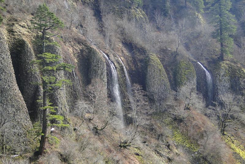 We counted 18 ephemeral falls around the canyon walls.