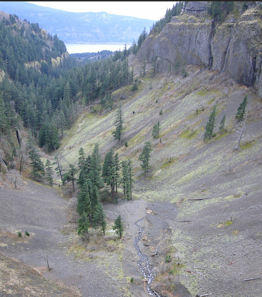 Looking South from Archer Falls.<br /> You can see where all the water from Archer Creek disappears into the ground.